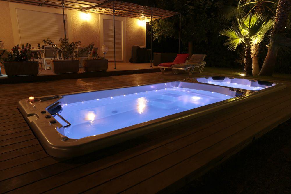 spa de nage Peips jardin terrasse